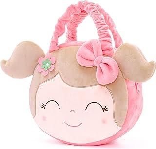 Gloveleya Kids HandBag Soft Toddler Plush Hand Bags Pink 7