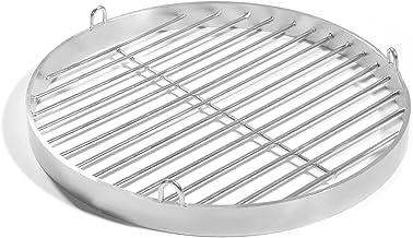 60cm Grill mit Halteösen, Edelstahl V2A Schwenkgrill, Schwenker Grillrost Feuerschalen Grillschalen Rundgrill