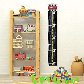 Custom Personalized Name Child Growth Chart - Racecar Track Finish Line on Tapestry