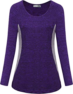 MISS FORTUNE Women's Yoga Tops Active Wear Dri Fit Shirts Workout Clothes