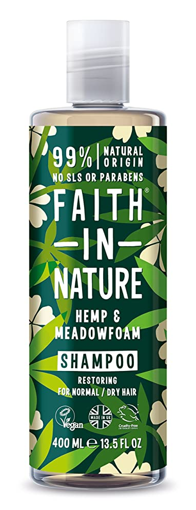 不条理パイント明るくするFaith in Nature Hemp and Meadowfoam Shampoo 400ml