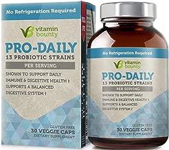 Vitamin Bounty Pro Daily Probiotic + Prebiotic - 13 Strains, Delayed Release Capsules - Including Lactobacillus acidophilus, rhamnosus and Saccharomyces boulardii