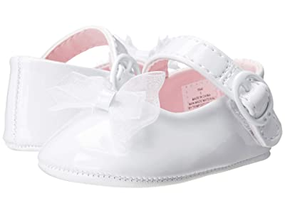 Baby Deer Skimmer Mary Jane (Infant) (White Patent) Girls Shoes