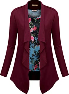 Miusey Womens Long Sleeve Open Front Cardigans and Floral Print Tank Top