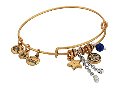 Alex and Ani Godspeed Cluster Bangle, Two-Tone (Rafaelian Gold) Bracelet