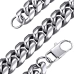 GOLDCHIC JEWELRY Stainless Steel 6-14mm Miami Chain Necklace, Chunky Cuban Link for Men & Women, Hip Hop Jewelry with Gift Box 46, 51, 55, 61, 66, 71, 76 cm