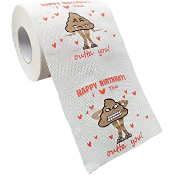 QHZHANG Happy Birthday Novelty Toilet Paper,a Novel Collectible Toilet Paper 。 (Novelty Toilet Paper)