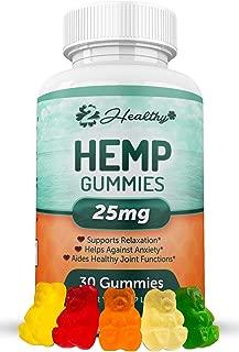 Hemp Gummies for Pain & Anxiety Relief - Hemp Gummy Made in USA - 750MG Total, 25MG Each Candy Gummy - Better Sleep, Calm Mood, Stress, Pain & Anxiety Relief - Zero Oil THC CBD Cannabidiol Pill …