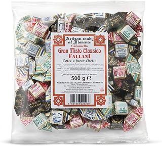 FALLANI CARAMELLE caramelle dure Grand Misto sacchetto caramelle 500 Gr. Linea Classica gusti Orzo, Anice, Menta refrigera...