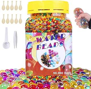 comprar comparacion SaiXuan 90000 PCS Bolas de Gel de Agua,Perlas de Gel para decoración del Florero,Plantas,Flores,Mezclados cristalino Hidro...