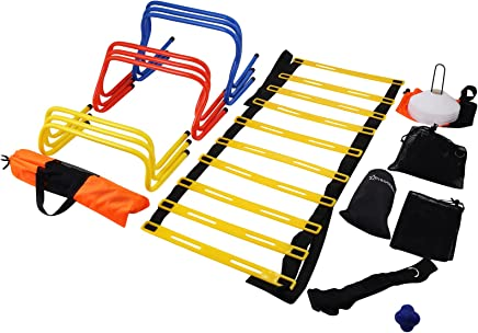 VEVOR Agility Speed Training Kit Combo Set Football Training Kit Speed Training Equipment