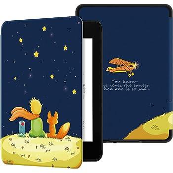 Ayotu Custodia in Pelle PU per Kindle Paperwhite-Custodia impermeabile dipinta per svegliarsi/dormire automaticamente(solo per Kindle Paperwhite 10ªgen-modello 2018),Il ragazzo e la volpe