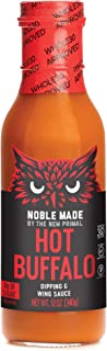 Noble Made by The New Primal HOT Buffalo & Wing Sauce, 12 oz Perfect for wings, chicken, and cauliflower