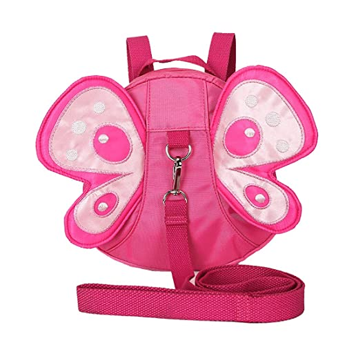 EPLAZA Toddler Walking Safety Butterfly Belt Backpack with Leash Child Kid Harness Strap Bag (rose