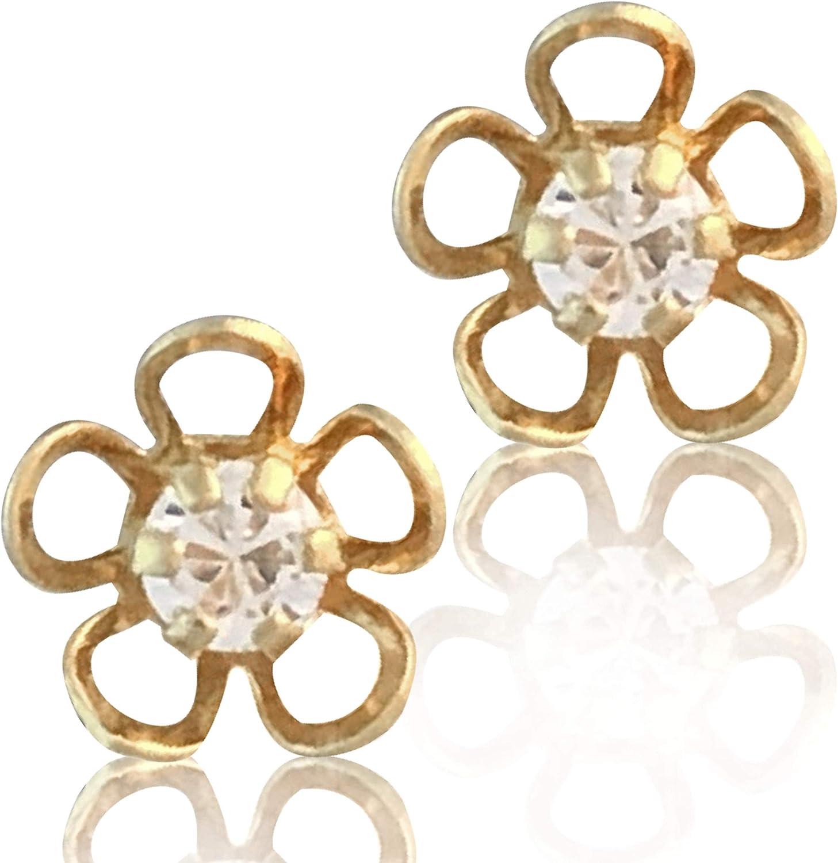 Cufflinks 18k Gold Laminated Heart Shaped Grid with Shiny Stone, #144