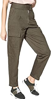 La Redoute Collections Womens High Waist Cargo Trousers, Length 26.5