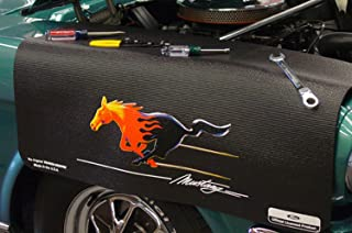 CarBeyondStore Ford Flamed Mustang Black Grip Fender Cover