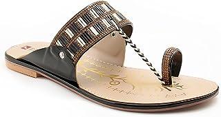 Divain Womens Flat Sandal Fashion Slippers (Art_702)