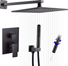 Oil Rubbed Bronze Shower Faucet GGStudy Shower Trim Kit with Rough-in Valve Shower Set Bath Rainfall Shower Faucet System ...