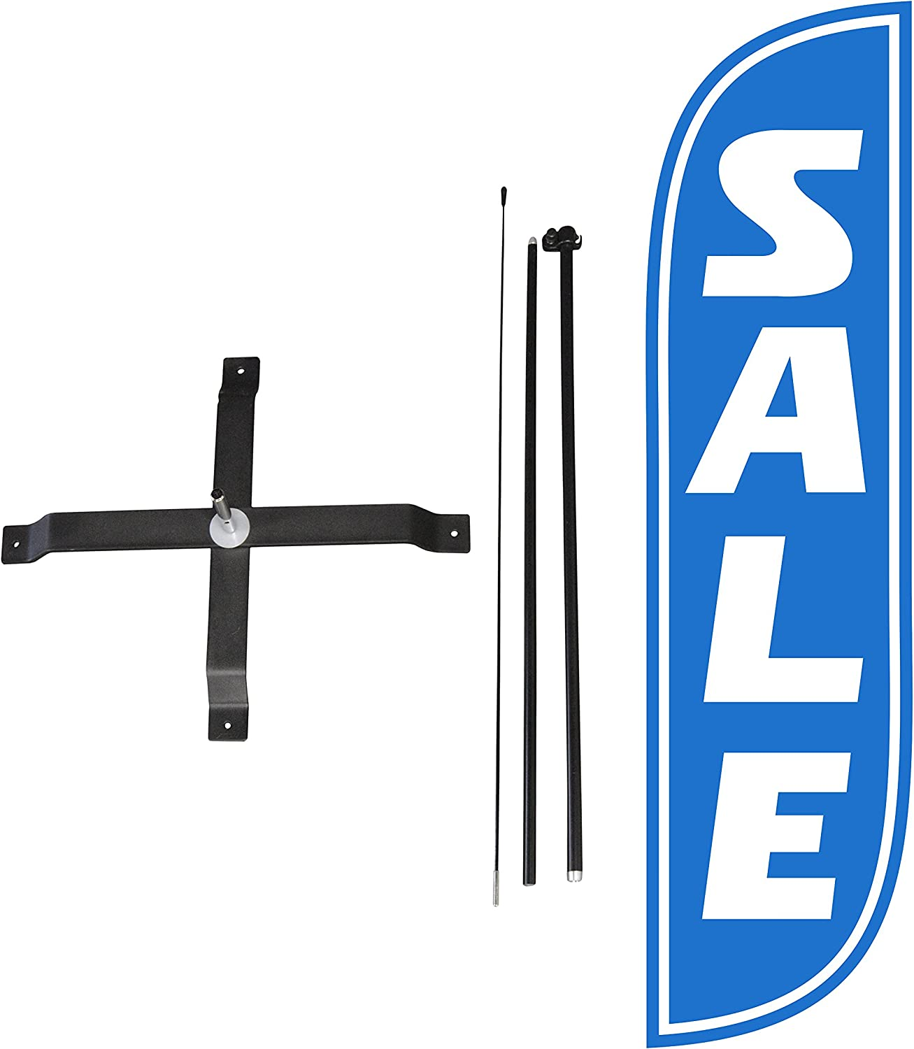 LookOurWay Sale Feather Flag Complete Set with Poles /& X-Stand 5-Feet