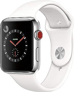 Apple Watch Nike Serie 3 (GPS + Celular), Correa deportiva blanca, 42 mm, Caja de acero inoxidable.
