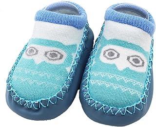 Navidad Calcetines Bebe Niña Antideslizantes Algodon Imprimir de Animales - Calcetines Socks para Recién Nacido Niñas Niños de Dibujos Animados - Baby Socks Slipper Shoes Boots,1 Pares
