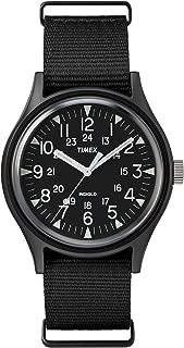 mk1 steel 40mm fabric strap watch