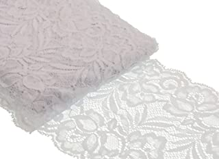 Style 2 ATRibbons 25 Yards White Lace Trim Roll Patterns Lace Ribbon for Sewing Making,Gift Wrapping and Bridal Wedding Decorations