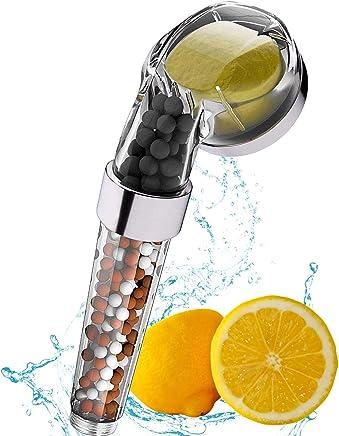 Soffioni Ionic Shower Stone Stone Stream Vitamina C Power Spa Soffioni doccia Rimuovi Cloro addolcitore dacqua dura Argento e trasparente