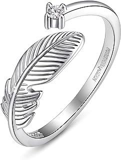 خاتم فور إيفر كوين، خاتم قطة من الفضة الإسترلينية 925 مع حلقة فم مفتوحة بذيل طويل، خاتم بسيط للإصبع للنساء والفتيات BJ09061