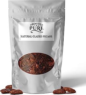 Proudly Pure 100% Natural Gourmet Glazed Praline Pecan Nuts (10 OZ) Kosher, Unpasteurized, No Preservative,...