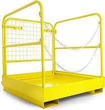 "BestEquip Forklift Man Basket 36""x36"" for 1 or 2 People, Forklift Saften Cage 1102 Lbs, Aerial Work Platform with 8.2""x2...."