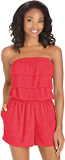 Terry Cloth Romper | Strapless Terry Cloth Romper