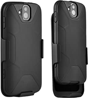 kyocera Duraforce Pro Case E6810, E6820, E6830 Combo with Belt Clip Holster Black (2017 Version) (Does Not Work with Kyocera Duraforce Pro 2 E6910 2019 Version) OZUR