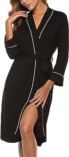 Women's Kimono Robes Cotton Lightweight Robe Short Knit Bathrobe Soft Sleepwear Ladies Loungewear S-XXL