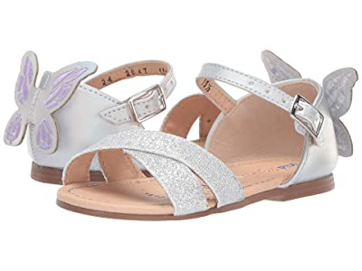 Kid Express Pixie (Toddler) (Silver Combo) Girls Shoes