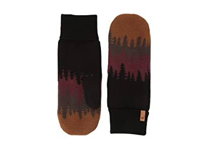 tentree Purcell Mittens (Bark Brown Juniper) Over-Mits Gloves