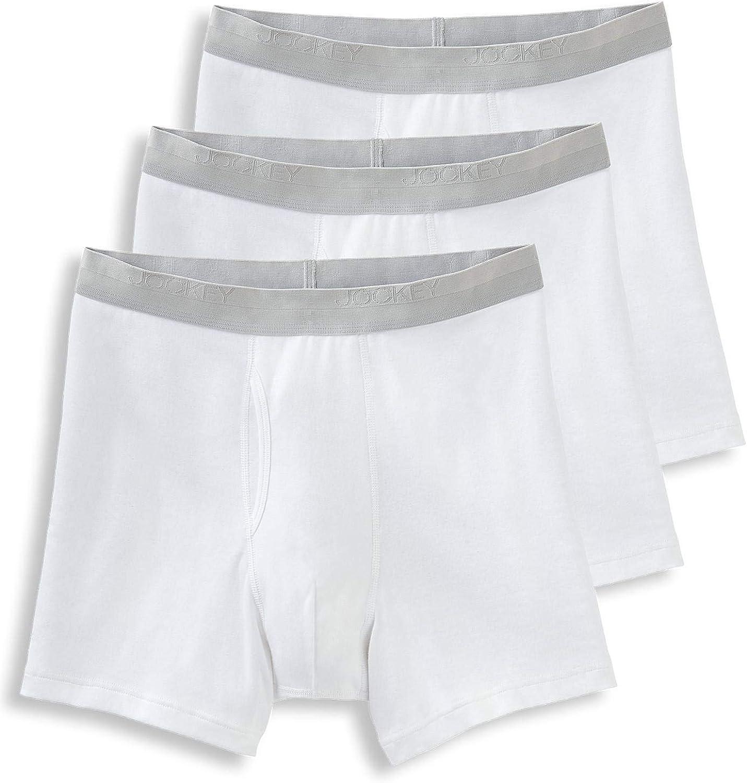 Jockey Men's Underwear Signature Pima Cotton Mid-Rise Boxer Brief - 3 Pack