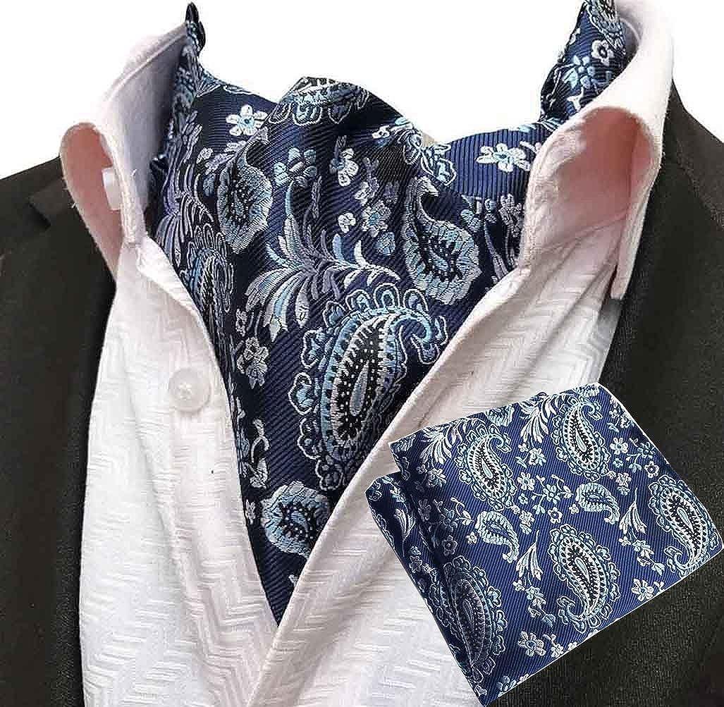 Tie Pocket Square Cufflinks Blue Pink Paisley Set Individual 100/% Silk Wedding