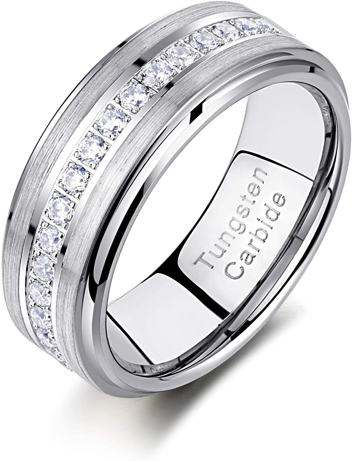 Newshe Tungsten Rings for Men Mens Him Z Cubic Wedding Bands All items in the store Super special price