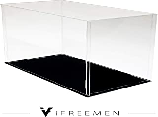 iFREEMEN 【 アクリル 】 コレクションケース フィギュアケース ディスプレイケース (30x20x20cm, 台座黒)