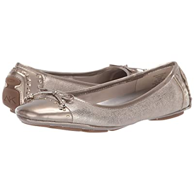 Anne Klein Buttons Flat (Taupe) Women