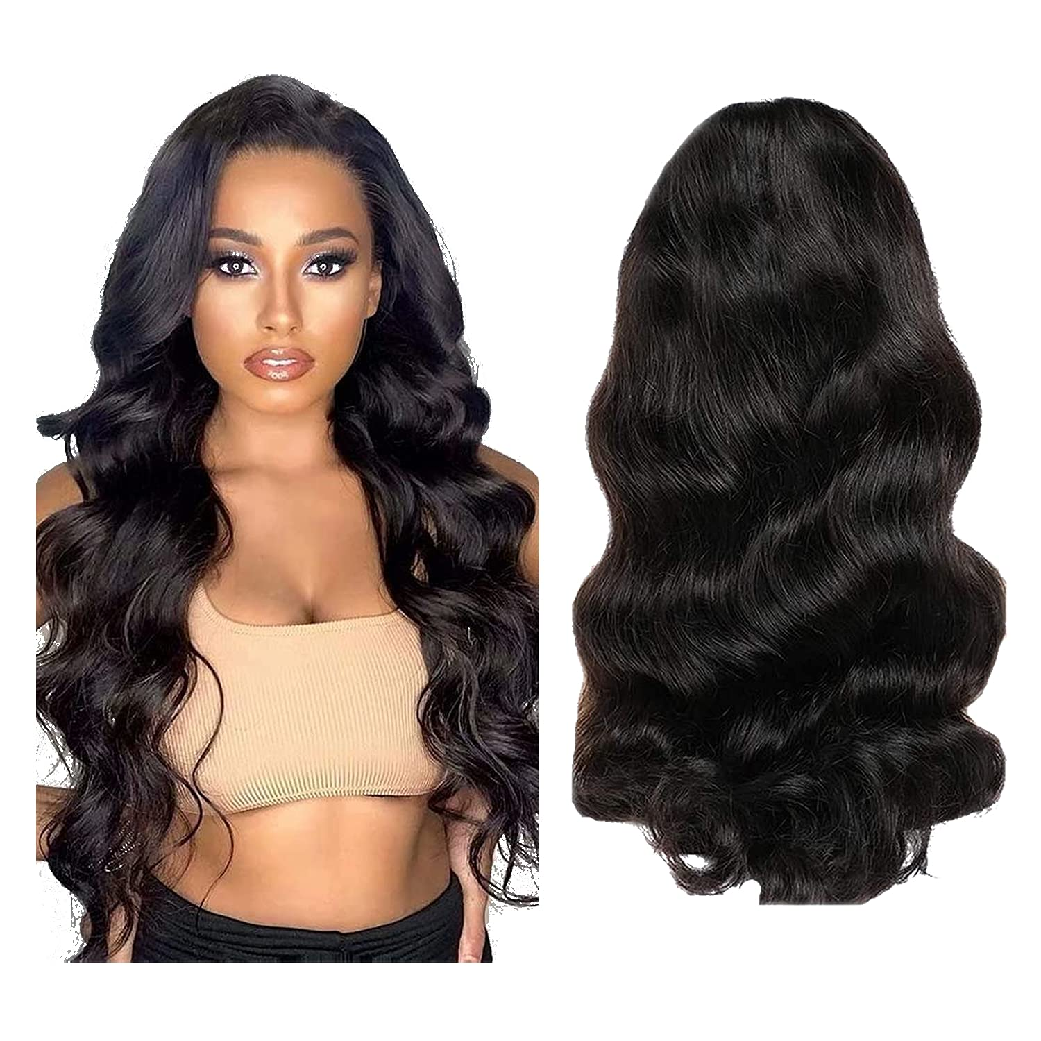 Fongly Body Wave Fees free!! Human Hair Wigs wig Women Black Lace Dedication for Front