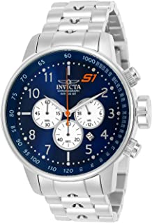 Invicta Men's S1 Rally Quartz Watch with Stainless-Steel Strap, Silver, 22 (Model: 23080)