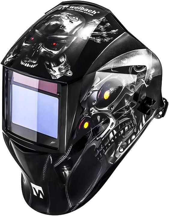 Casco per saldatura  welbach - metalator - maschera da saldatore - expert series B06XDQFQRF