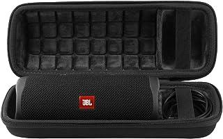 co2crea Hard Travel Case Replacement for JBL FLIP 5 Waterproof Portable Bluetooth Speaker (Black Case + Inside Black)