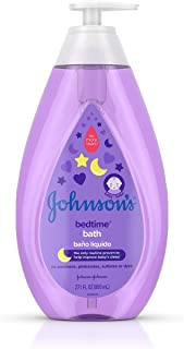 Johnson's Bedtime Baby Bath with Soothing NaturalCalm Aromas, Hypoallergenic & Tear Free Formula, 27.1 fl. oz