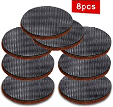 """JJDD Black Anti Slip Furniture Pads 8 pcs 4"""" Rubber Feet-Furniture Floor Protectors Round Furniture Grippers Pads Self Adhesive Rubber Feet Furniture Pads for Keep in Place Furniture on Floor"""