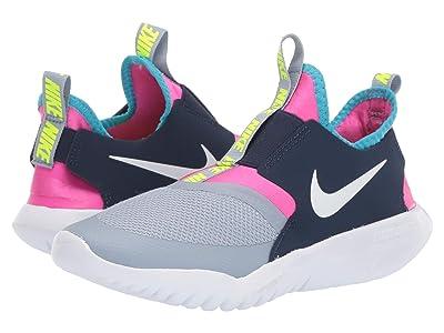 Nike Kids Flex Runner (Big Kid) (Obsidian Mist/White/Laser Fuchsia) Kids Shoes