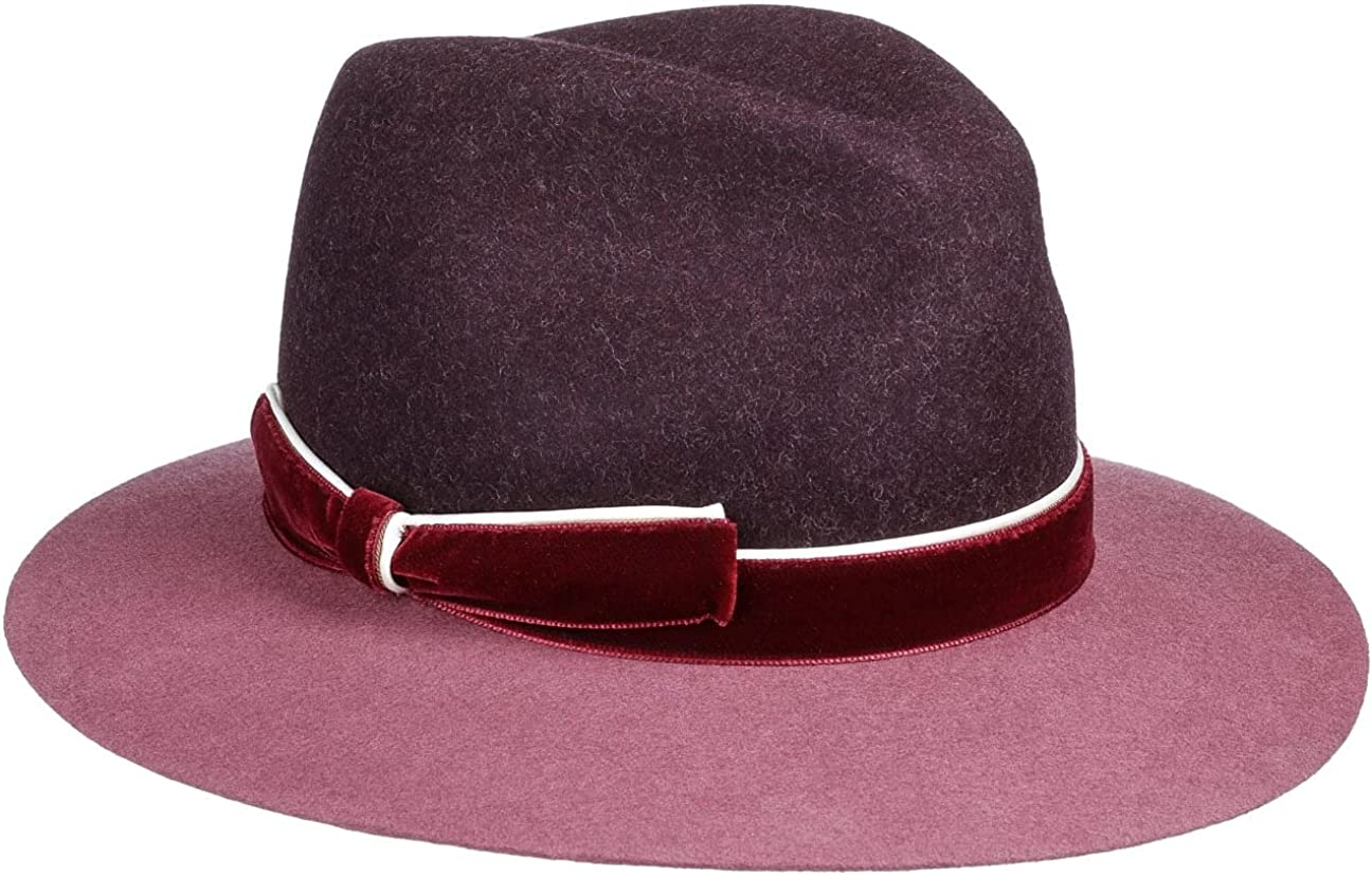 Lierys Twotone Fedora Hat with Velvet Band Women - Made in Italy
